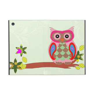 Owl colorful patchwork art decorative ipad case