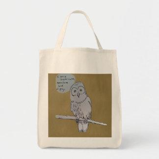 Owl Comic Grocery Tote Bag