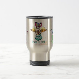 Owl compass east or west home is best stainless steel travel mug
