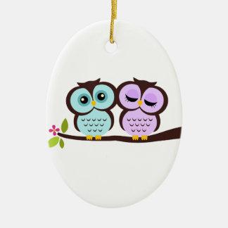 Owl Couple Christmas Ornament