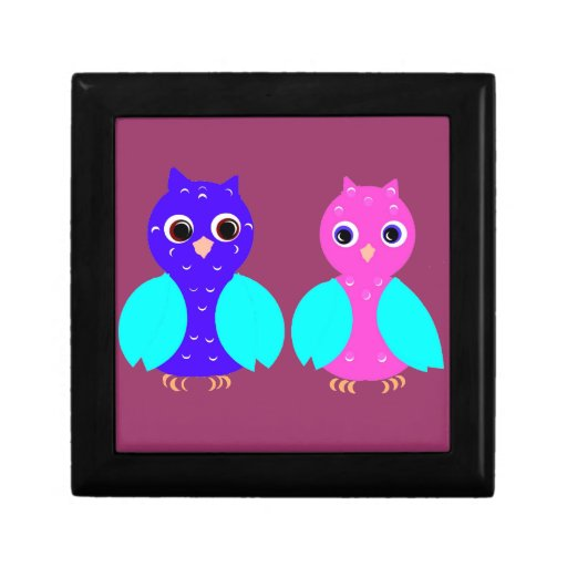 Owl Couple on multiple products Gift Box