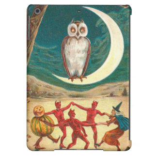 Owl Crescent Moon Witch Demon Creature iPad Air Covers