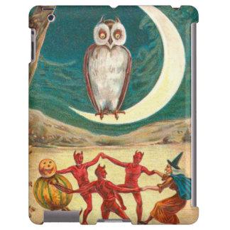 Owl Crescent Moon Witch Demon Creature iPad Case