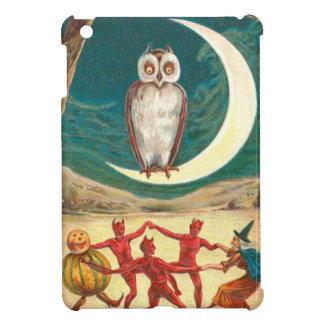 Owl Crescent Moon Witch Demon Creature iPad Mini Covers
