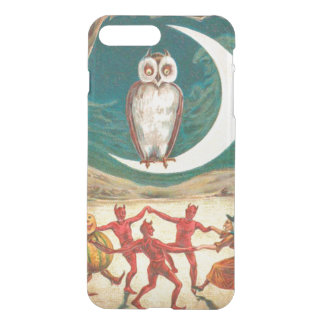 Owl Crescent Moon Witch Demon Creature iPhone 7 Plus Case