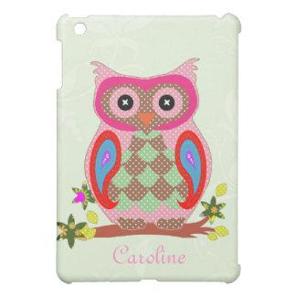 Owl custom name art colorful decorative ipad case