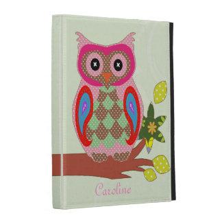 Owl custom name colorful art decorative ipad folio iPad folio cover