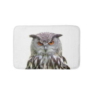 Owl cute animal forest woodland peekaboo photo bath mat