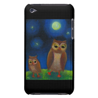 Owl dance lesson full moon night cute unique art iPod touch cover