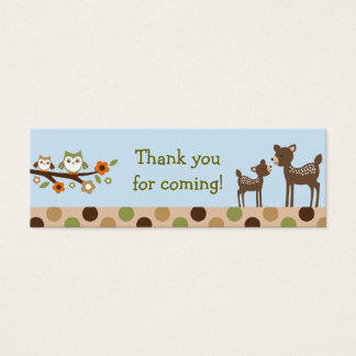 Owl Deer Forest Goodie Bag Tags Gift Tags