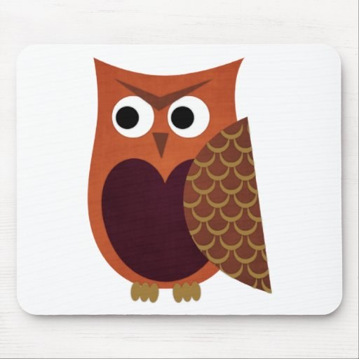 Owl designs mouse pad
