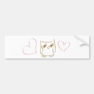 Owl Doodle Bumper Sticker