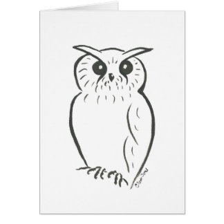 Owl doodle card