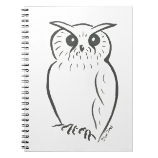 Owl doodle spiral notebook