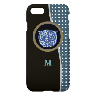 owl, dots & initial iPhone 8/7 case