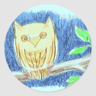 Owl Drawing Sticker