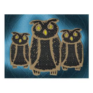 Owl - eagle owl - fogy post cards