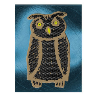 Owl - eagle owl - fogy postcards