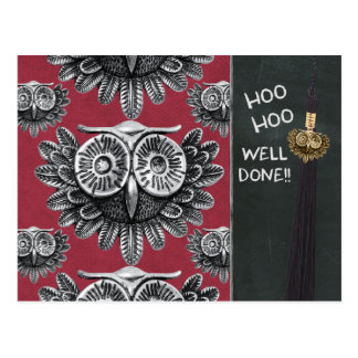 Owl exam congrats CC0834 Hoo hoo Well done Postcard