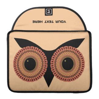 Owl Eyes custom MacBook sleeve