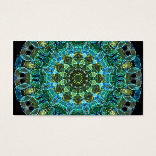 Owl Eyes kaleidoscope Business Card