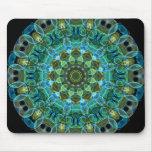 Owl Eyes kaleidoscope Mousepad