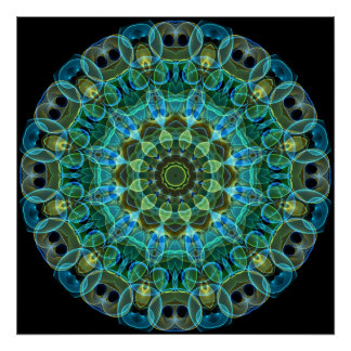 Owl Eyes kaleidoscope Poster