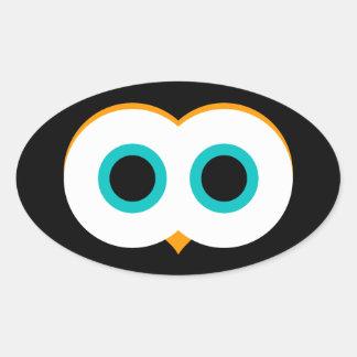 Owl Eyes Oval Sticker