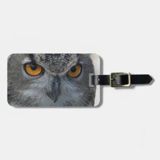 Owl Eyes Photo Luggage Tag