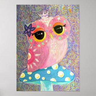 Owl Fairy Princess Posters