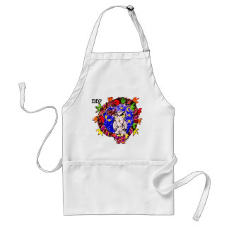owl fall art four standard apron