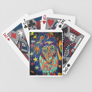 owl fall art two bicycle playing cards