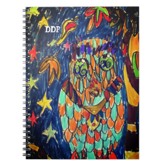 owl  fall art two notebook