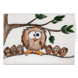 Owl family cards