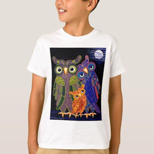 Owl Family Kids T Shirt