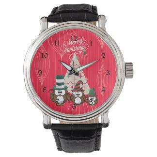Owl Family Merry Christmas Wrist Watches
