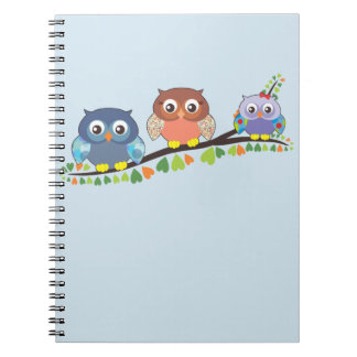 Owl Family Notebook