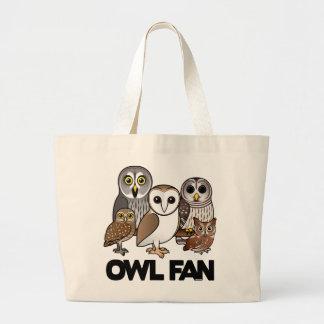 Owl Fan Canvas Bags