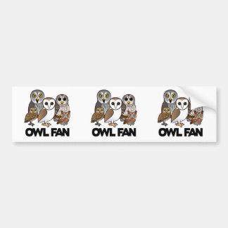 Owl Fan Bumper Stickers