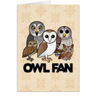 Owl Fan Greeting Card