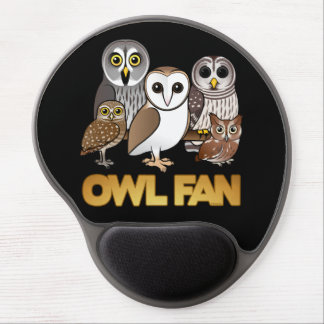 Owl Fan Gel Mouse Mats