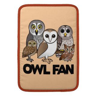 Owl Fan MacBook Sleeves