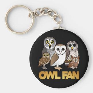 Owl Fan Key Chain