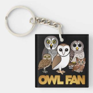Owl Fan Acrylic Key Chain