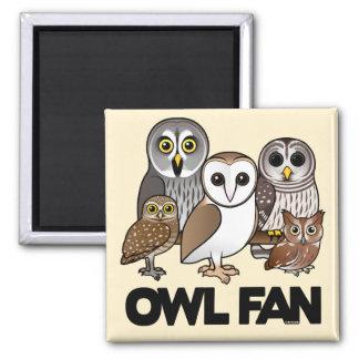 Owl Fan Refrigerator Magnet