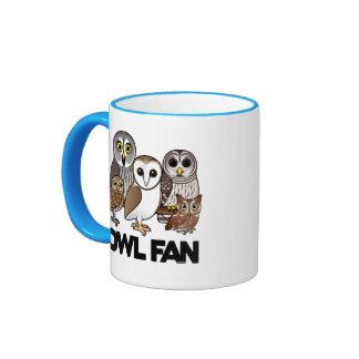 Owl Fan Coffee Mugs