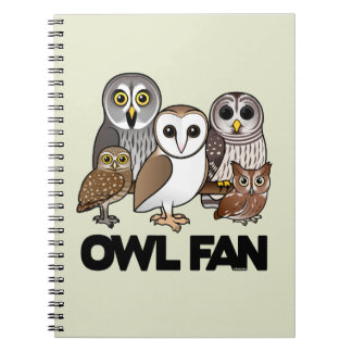 Owl Fan Spiral Notebook