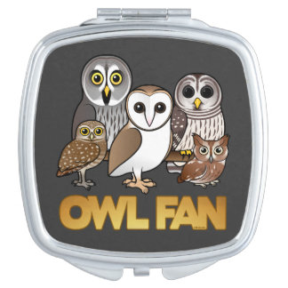 Owl Fan Makeup Mirrors