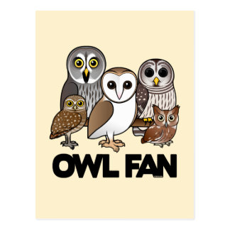 Owl Fan Postcards