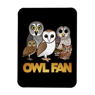 Owl Fan Vinyl Magnets